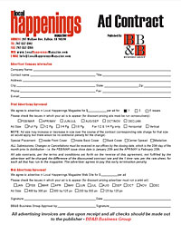 Ad Contract Form | Local Happenings Magazine