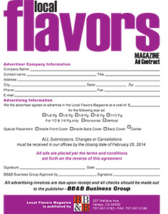Flavors Ad Contract